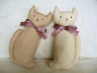 猫のオーガニックコットンおもちゃ