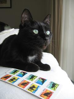 猫ノアとネコ切手2