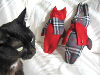 猫とうさぎ、プレゼント