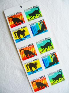 スウェーデンの猫切手