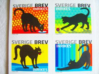 スウェーデンの猫切手2